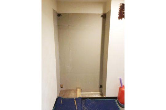 既存玄関収納 解体・撤去工事後