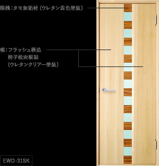 無垢材と貼板の融合
