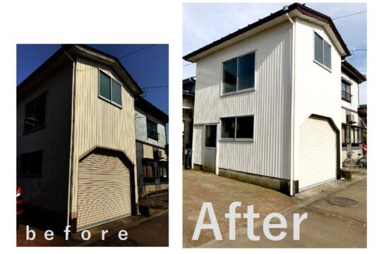 車庫外壁塗装